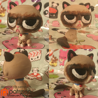 Grumpy Cat LPS Littlest Pet Shop Custom by KrazyKari