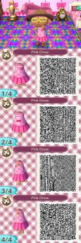 ACNL Pink Dress by Reitanna-Seishin