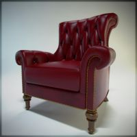 Red Leather Armchair by SpawnV2