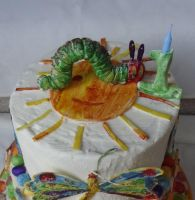 Hungry Caterpillar Cake by FifiCake