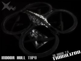 AR Drone 2.0 Tribalized - Indoor Hull by ifunxtreme
