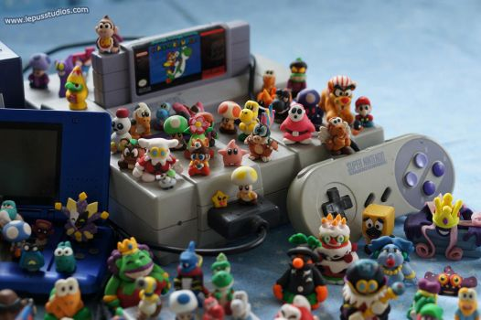 Super Mario Statues - Systems, SNES by Lepus-Marj