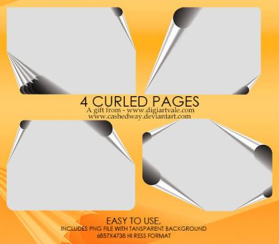 4 curl Pages by cashedway