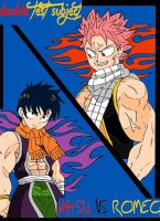 Double Test Subject NATSU VS. ROMEO by Somdude424