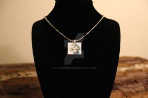 Cloud Strife - FFVII - Scrabble Tile Necklace by AlyssaGM