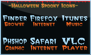 Halloween Spooky Icons by Danilux