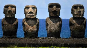 Moai foursome 1 by wildplaces