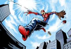 "Spidey ""Time to save the day"" by KeiNhanGia"