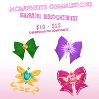 Brooch Commissions! by McMugget