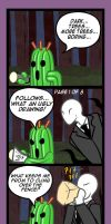 Cactuar, Slenderman...and Tonberry by Cramous