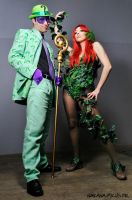 Riddler and Poison Ivy by EnModeCroft