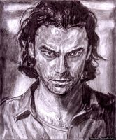 The Smoldering Gaze of John Mitchell by VisionSisters