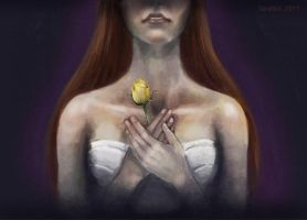 Yellow Rose by feralkin