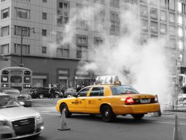 NYC - Taxi by NesSelene