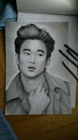 Kim Soo-hyun drawing by TrunksJovi