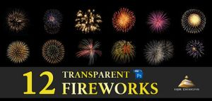 12 Transparent Fireworks Set 1 by HJR-Designs