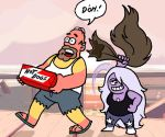 Homer Simpson in Steven Universe by requin