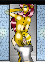 Kyle smothering in shower by Anthro1