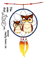 commission -- Owls and dreamcatcher tattoo by onisuu