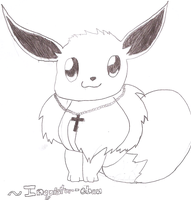 An eevee for Inquistor-chan by DragoniteMessenger