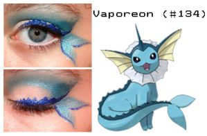 Pokemakeup 134 Vaporeon by nazzara