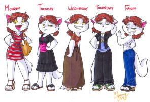 Candy's Clothes for the week by Candy-Janney
