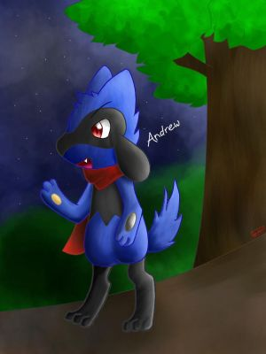 Andrew ! The Riolu by Laywithfull