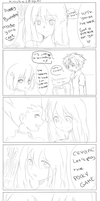 Killua x Crystal (POCKY GAME) by koustoki