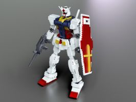 Lego Gundam: super realistic re-render! by mithrylaltaire