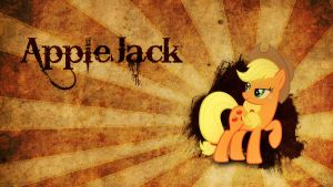 Applejack Old Parchment Style Wallpaper by WazerX