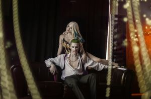 Harley Quinn and Joker by Anastasya01
