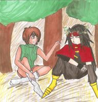 FF7: Yuffie+Vincent exchange by kittytreats