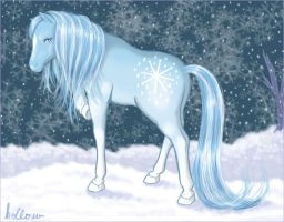 Snowfall Pony by hollowzero