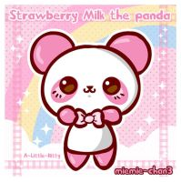 kawaii Strawberry Milk panda by miemie-chan3