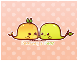 Pear and Peaches by Azaikar