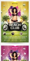 Summer Beach Club Flyer Template by saltshaker911