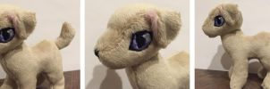 Dog plush by TheRuffledRaven