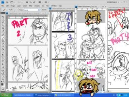 Thrax and EWa comic WIP by MakiLoomis