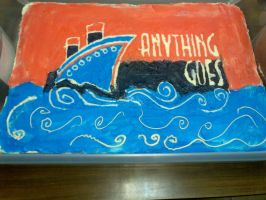 Anything Goes Cast Party Cake by wickedwitchinc