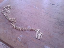 Michael Jackson Rhinestone Glove Necklace by Forever-MJ