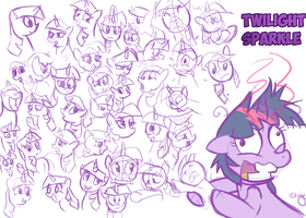 Twilight Sparkle Warmup by Skatoonist