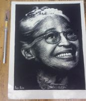 Rosa Parks Scratchboard by Universal808