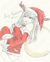 Erza Merry Christmas by Lucy-Constellation