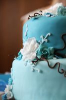 Blue wedding cake 2 by Nydrli