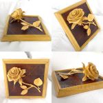 Rose carved of wood complete by byMichaelX