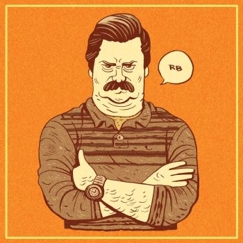 Ron Swanson by RADMANRB