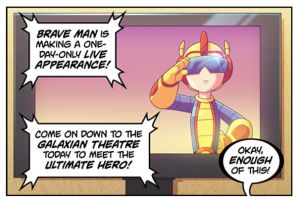 Bravoman-With-A-Plan panel 1 by D-Gee