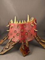 Leather Gorget - Squig by IsilWorkshop