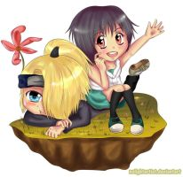 Chibi Deidara nd Summy - Chibii-Yuu by NoLightArtist