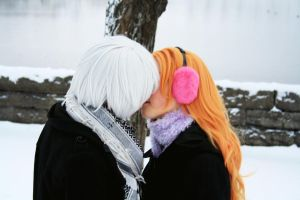 GinXRangiku - Snow kiss by Shiroiaisu